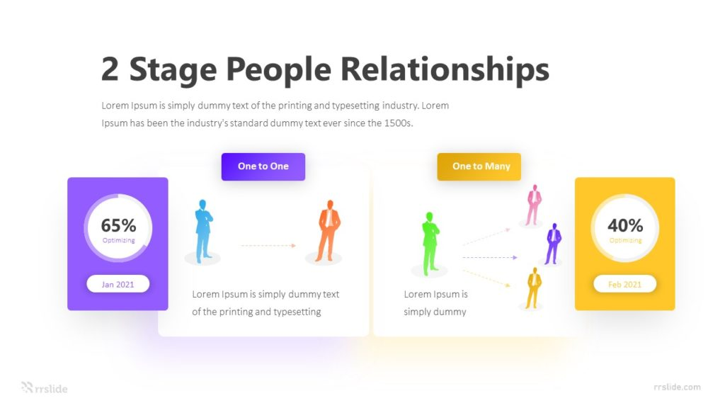 2 Stage People Relationships Infographic Template
