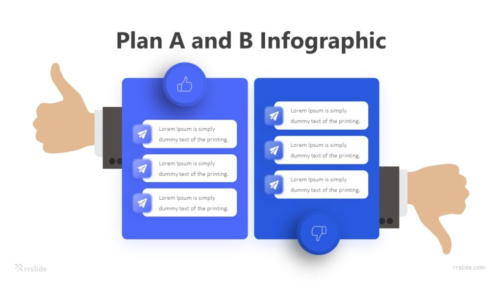 2 Stage Plan A and B Infographic Template