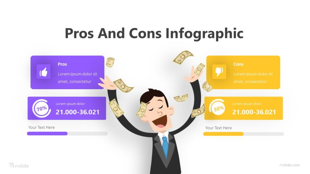 2 Stage Pros And Cons Infographic Template