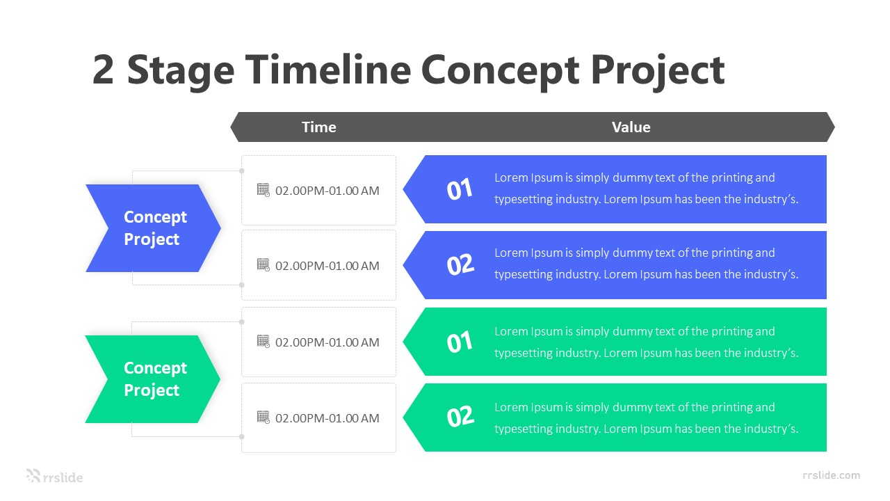2 Stage Timeline Concept Project Infographic Template