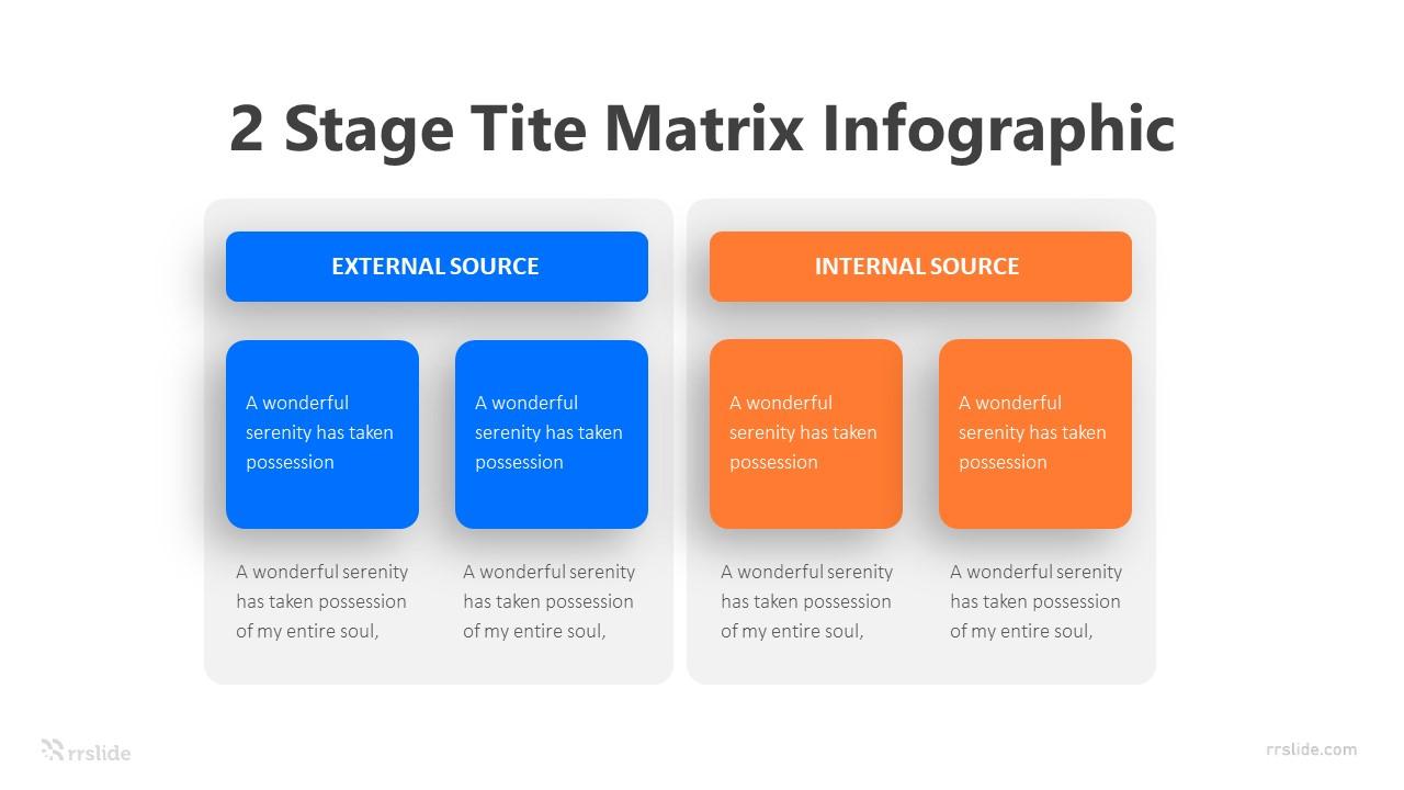 2 Stage Tite Matrix Infographic Template