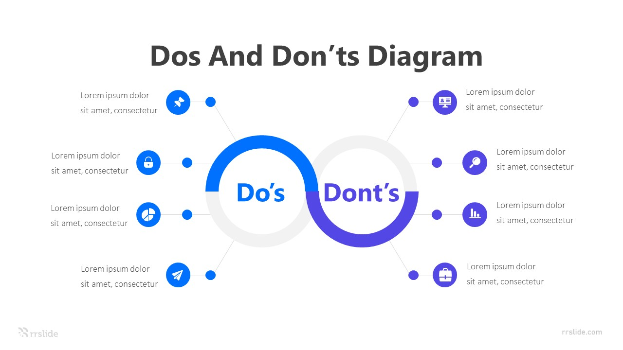 2 Step Dos And Don'ts Diagram Infographic Template