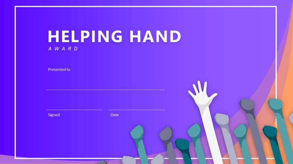 2 Step Helping Hand Infographic Template