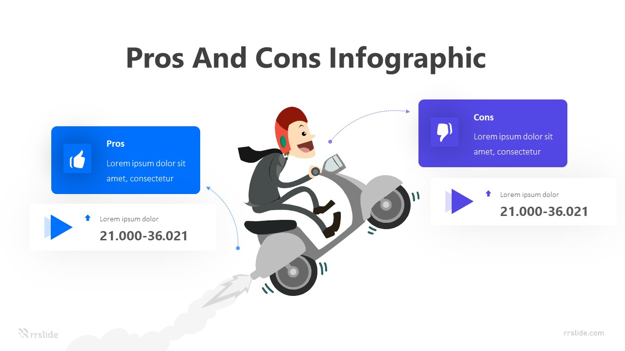 2 Step Human Pros And Cons Infographic Template