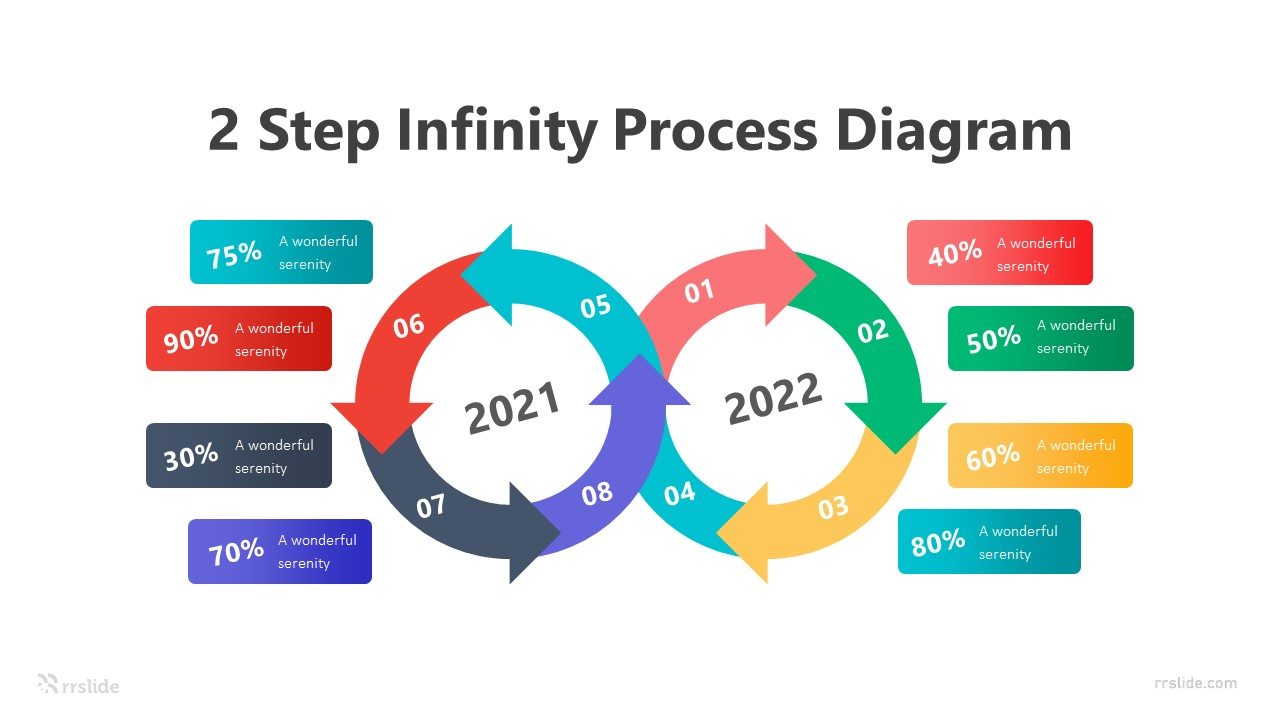 2 Step Infinity Process Diagram Infographic Template