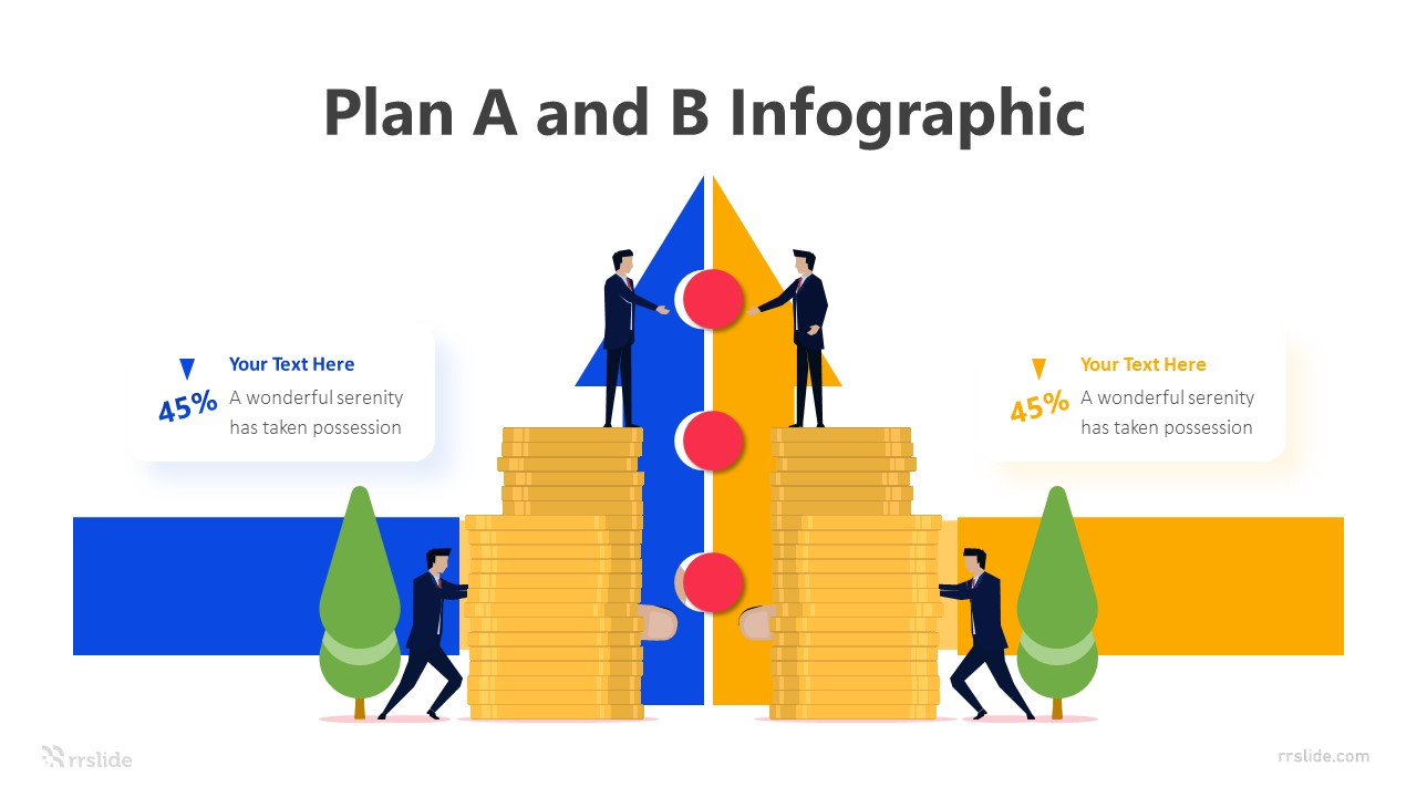 2 Step Plan A and B Infographic Template