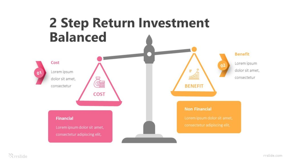 2 Step Return Investment Balanced Infograpic Template