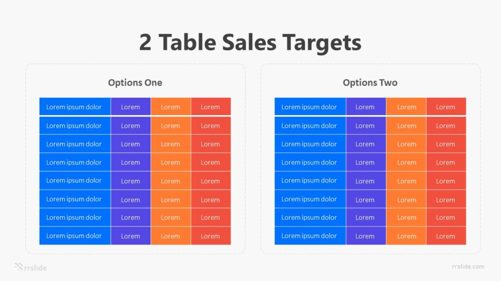 2 Table Sales Targets Infographic Template