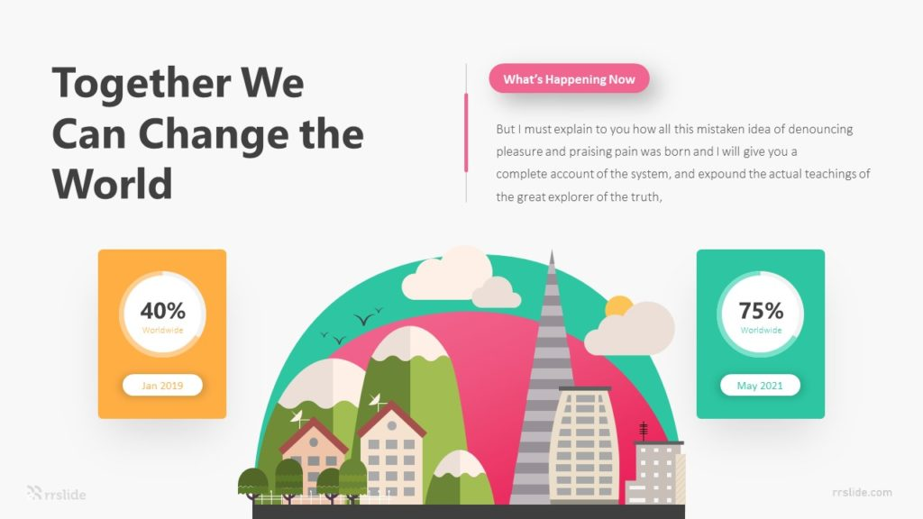 2 Together We Can Change The World Infographic Template
