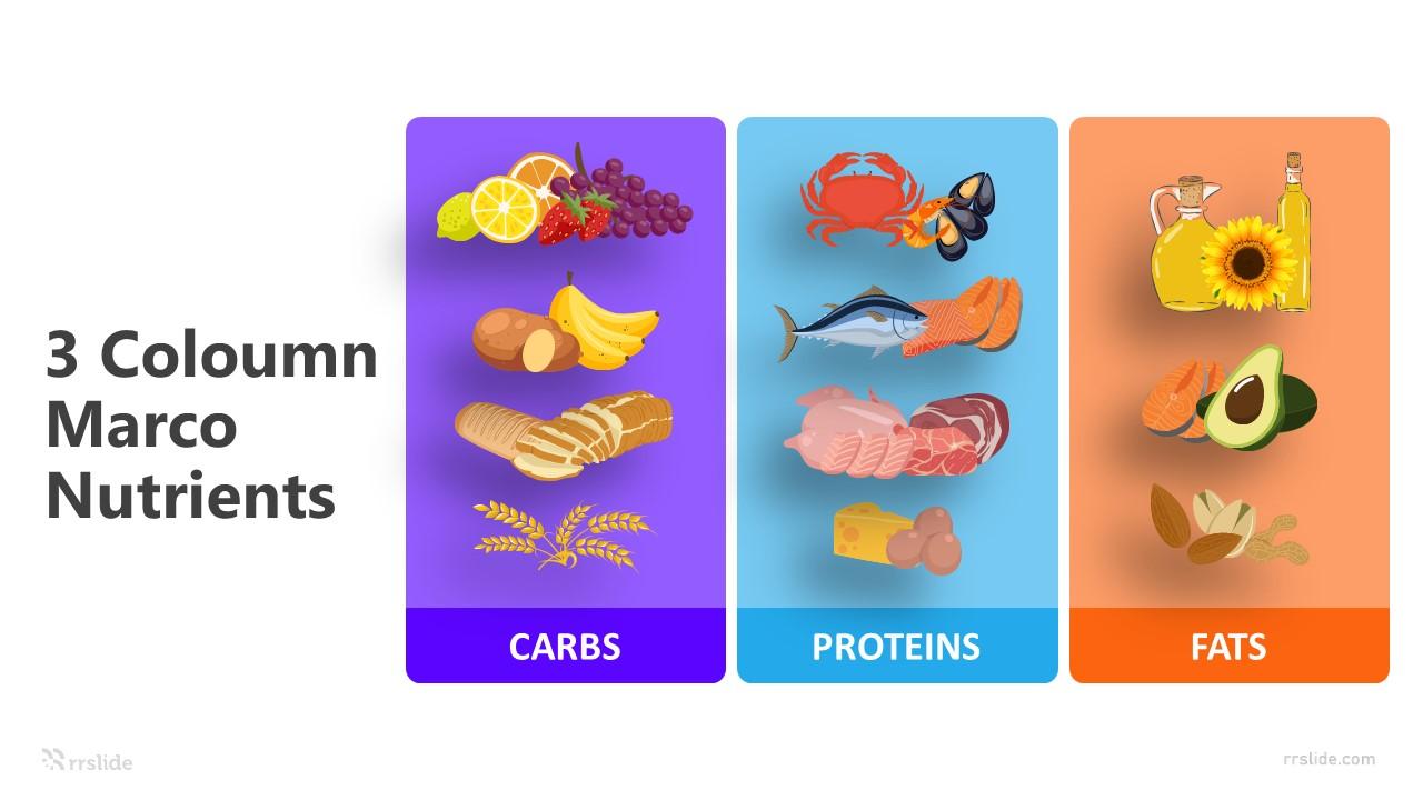 3 Coloumn Marco Nutrients Infographic Template