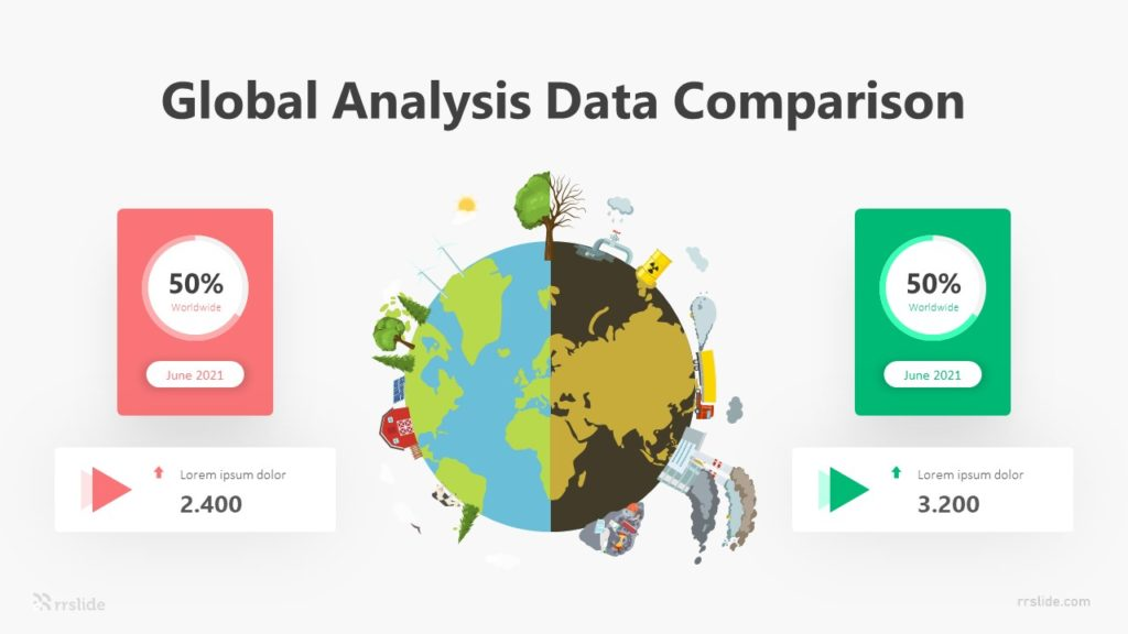 3 Global Analysis Data Comparison Infographic Template