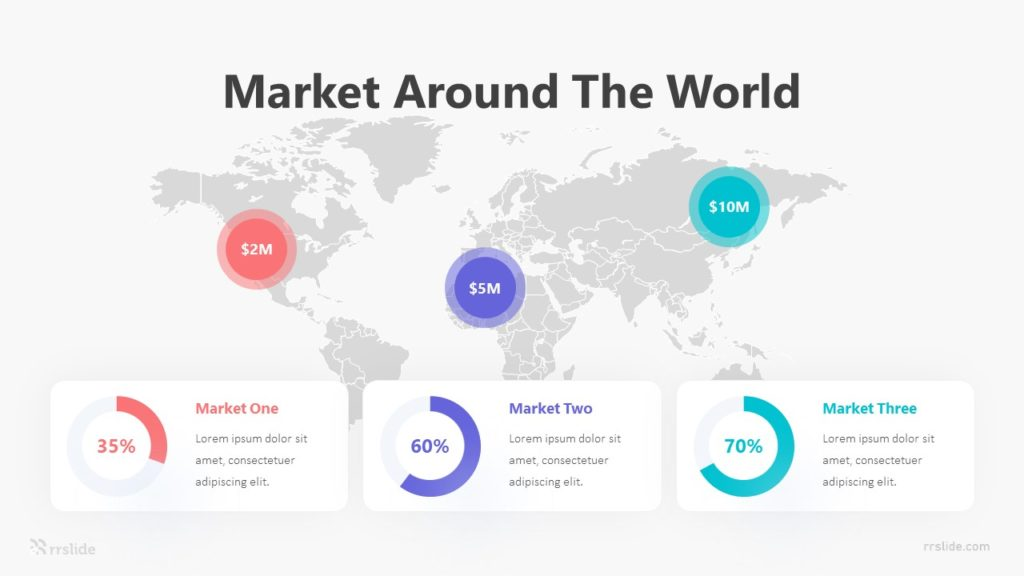 3 Market Around The World Infographic Template