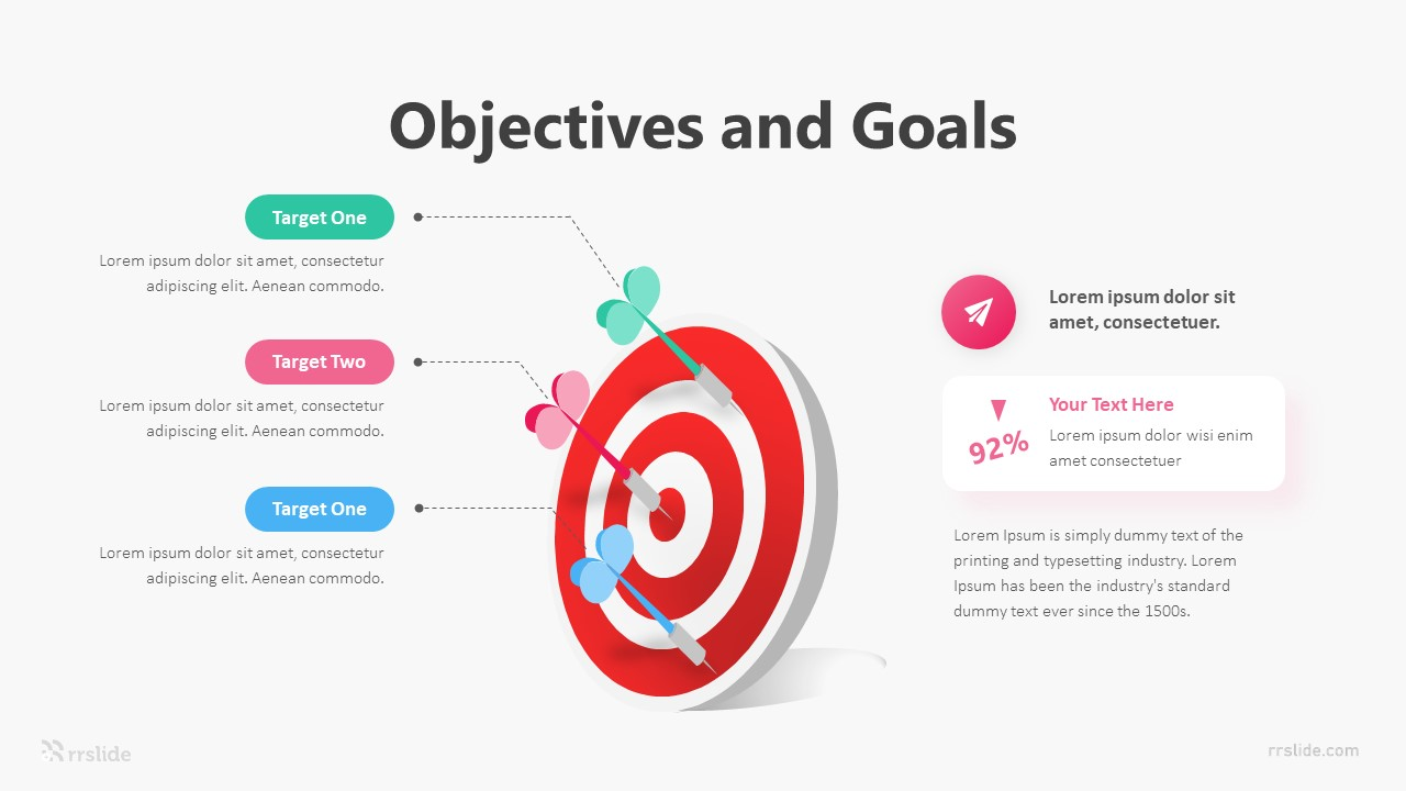 3 Objectives And Goals Infographic Template