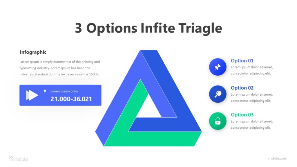 3 Options Infite Triagle Infographic Template