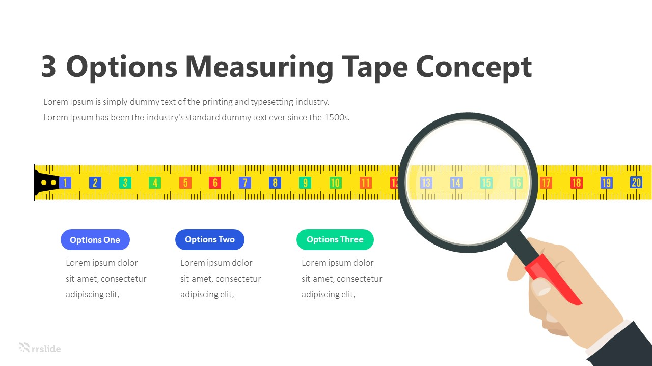 3 Options Measuring Tape Concept Infographic Template