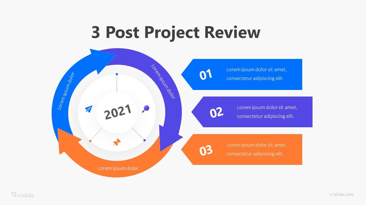 3 Post Project Review Infographic Template
