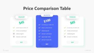 3 Price Comparison Table Infographic Template