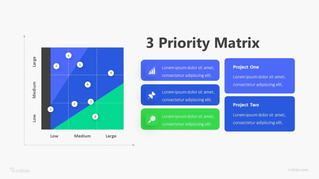 3 Priority Matrix Infographic Template