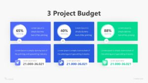 3 Project Budget Infographic Template