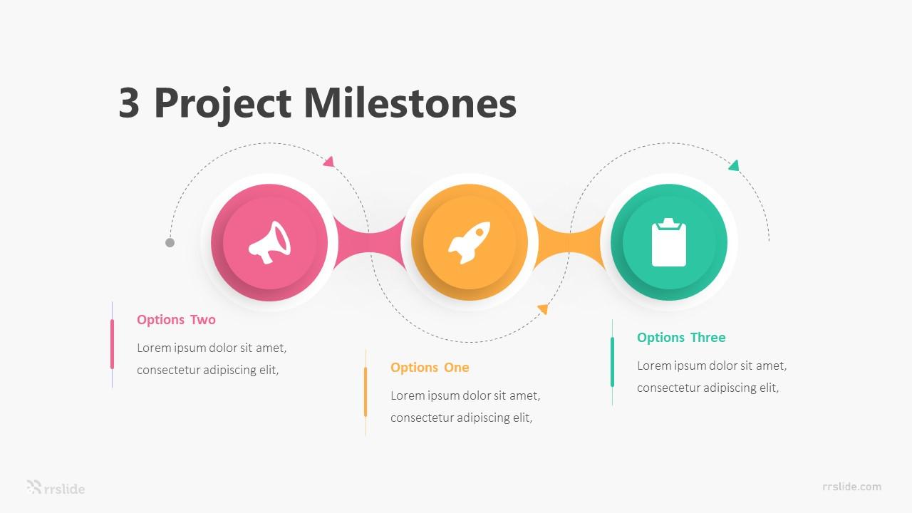 3 Project Milestones Infographic Template