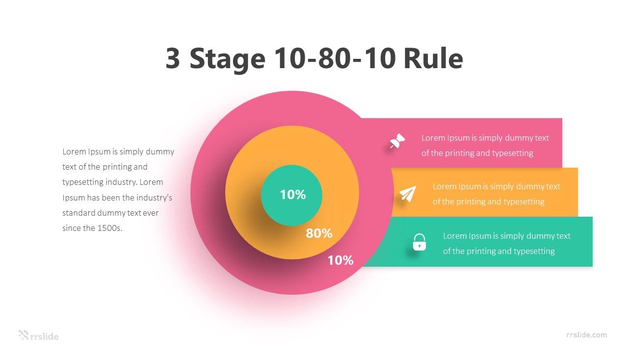 3 Stage 10 80 10 Rule Infographic Template