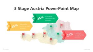 3 Stage Austria PowerPoint Map Infographic Template