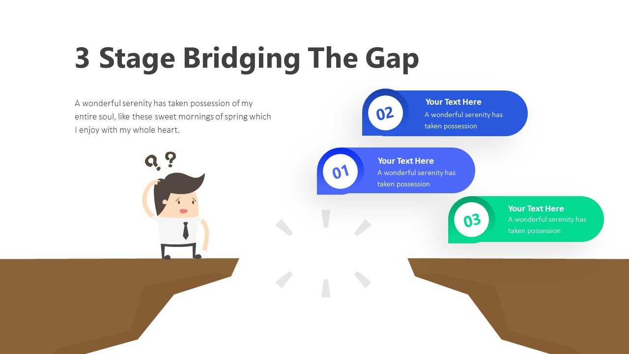 3 Stage Bridging The Gap Infographic Template