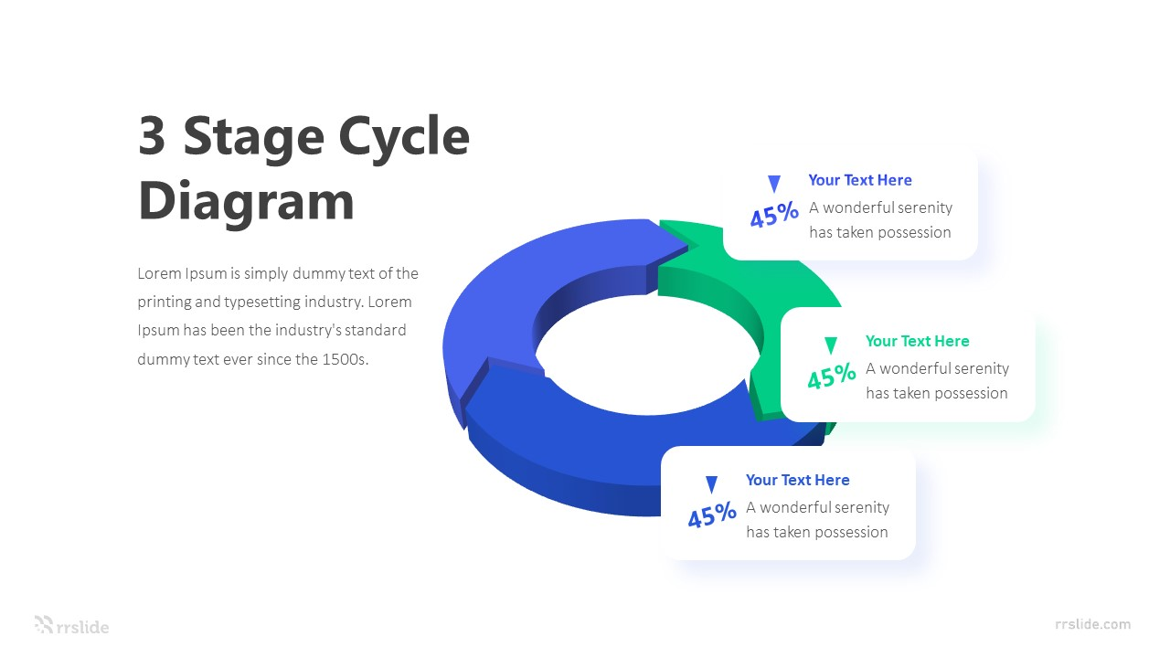 3 Stage Cycle Diagram Infographic Template