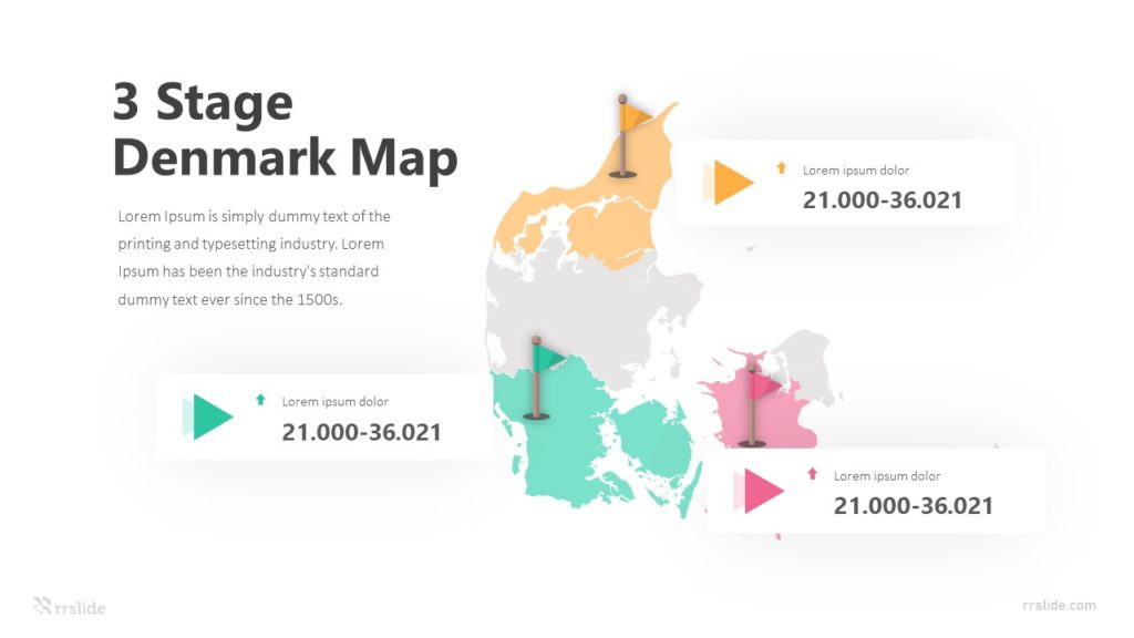 3 Stage Denmark Map Infographic Template
