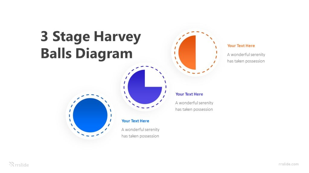 3 Stage Harvey Balls Diagram Infographic Template