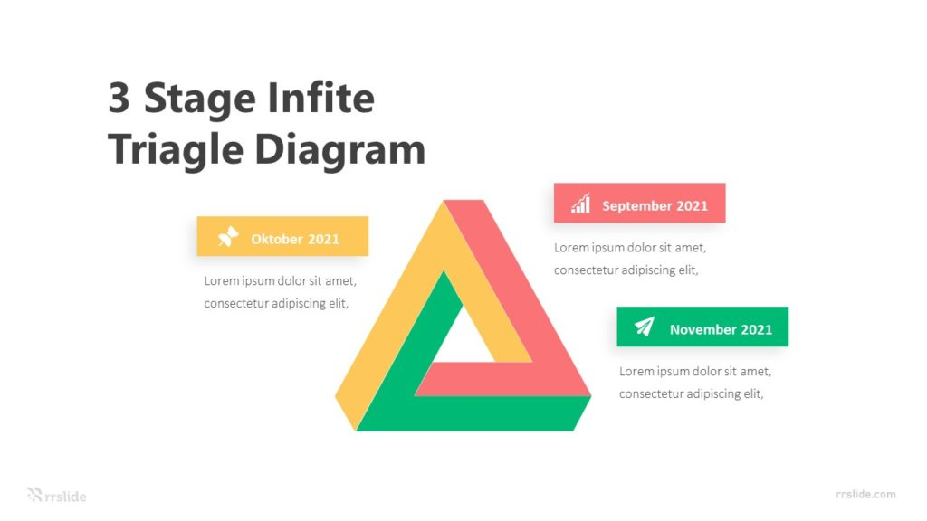 3 Stage Infite Triagle Diagram Infographic Template