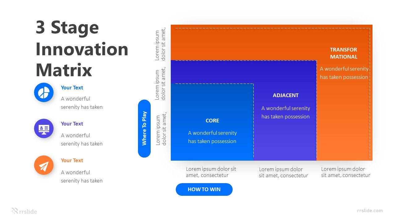 3 Stage Innovation Matrix Infographic Template