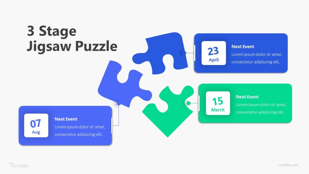3 Stage Jigsaw Puzzle Infographic Template
