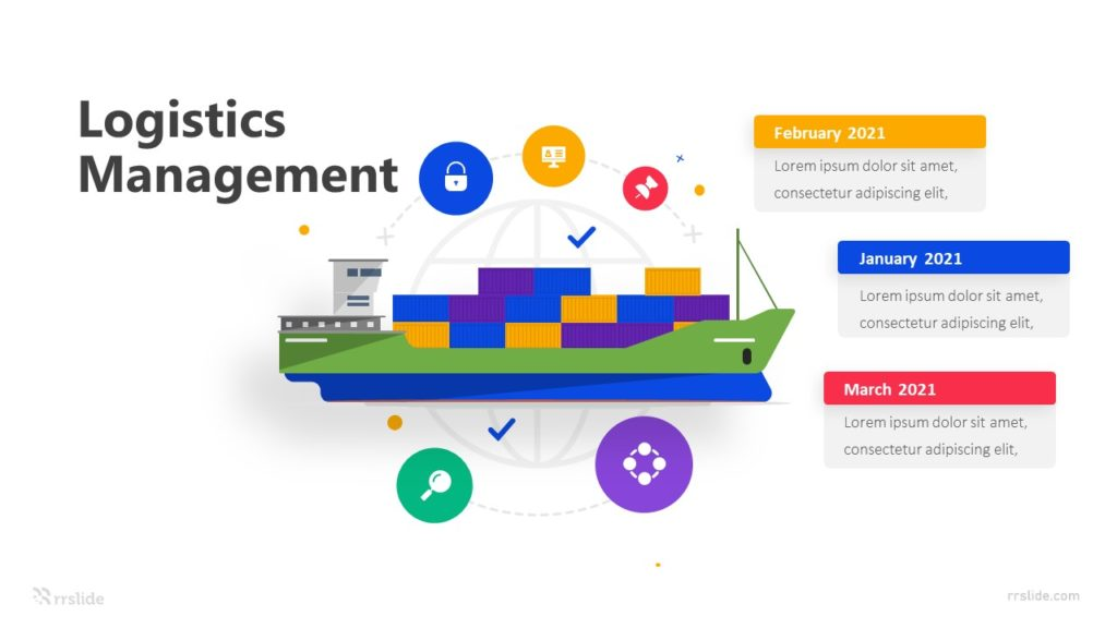 3 Stage Logistics Management Infographic Template