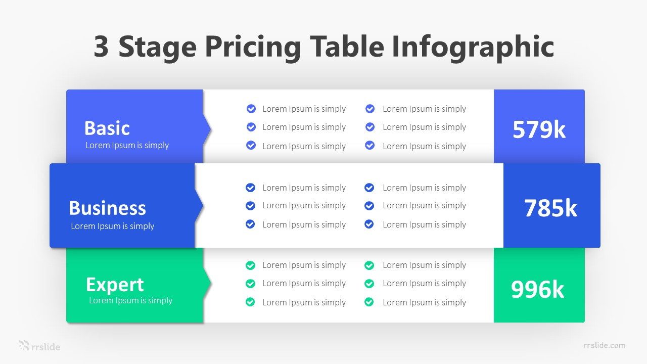3 Stage Pricing Table Infographic Template