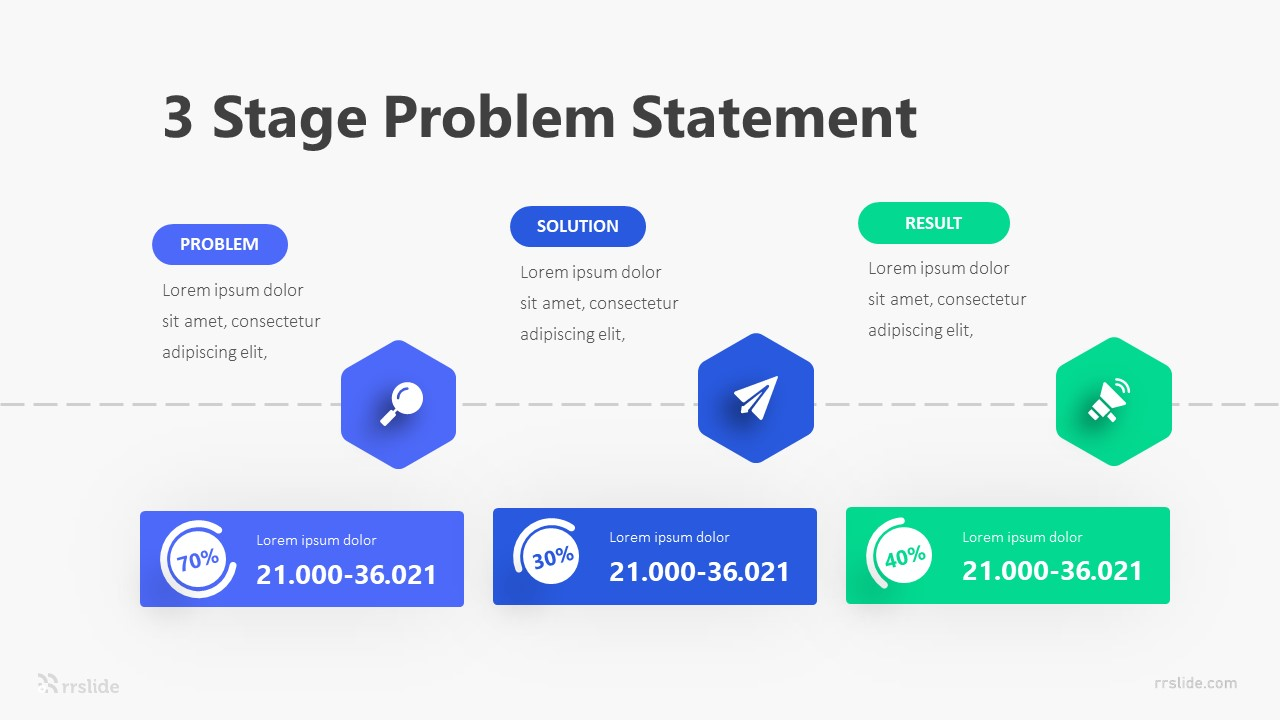 3 Stage Problem Statement Infographic Template