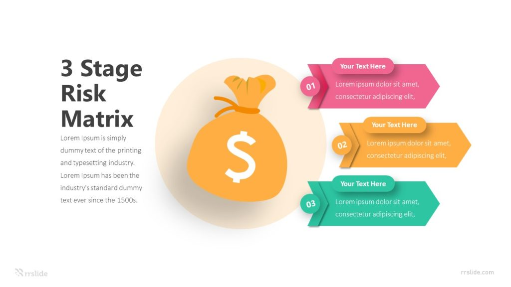 3 Stage Risk Matrix Infographic Template