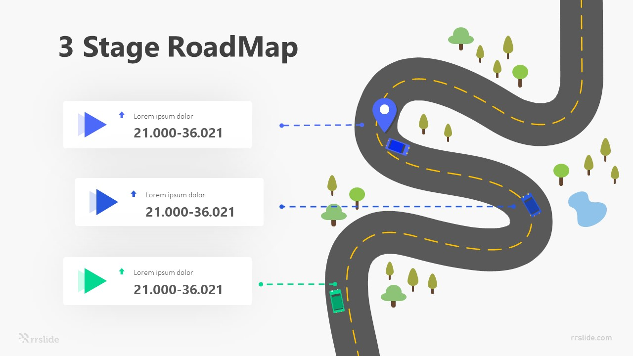 3 Stage RoadMap Infographic Template