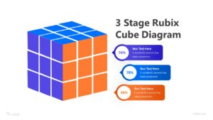 3 Stage Rubix Cube Diagram Infographic Template