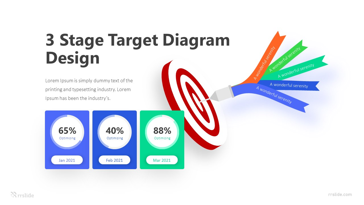 3 Stage Target Diagram Design Infographic Template