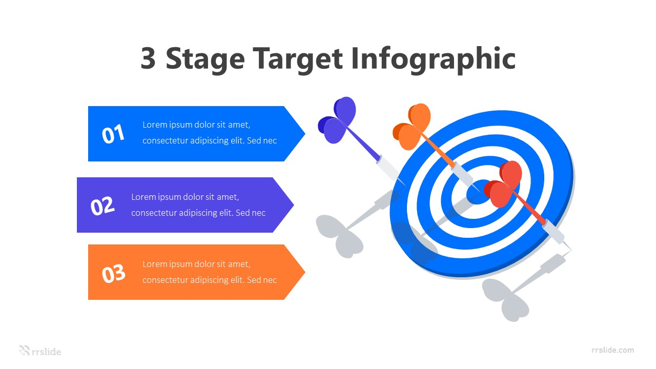 3 Stage Target Infographic Template