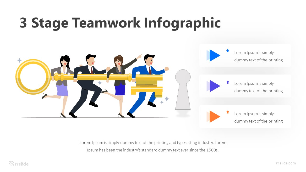 3 Stage Teamwork Infographic Template