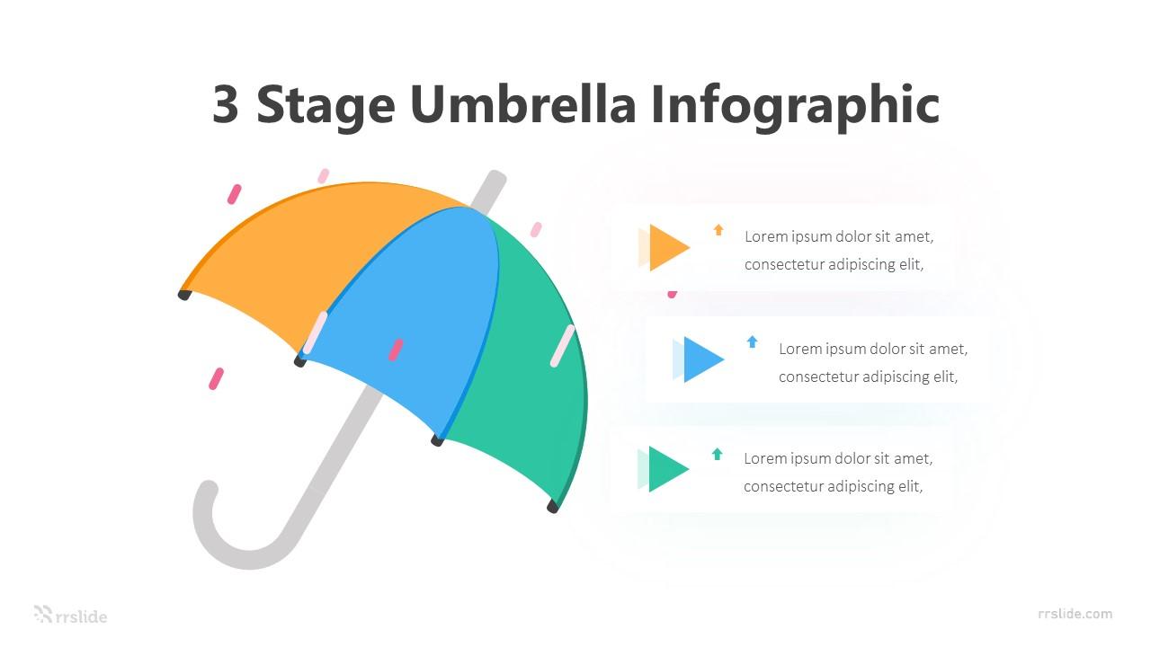 3 Stage Umbrella Infographic Template