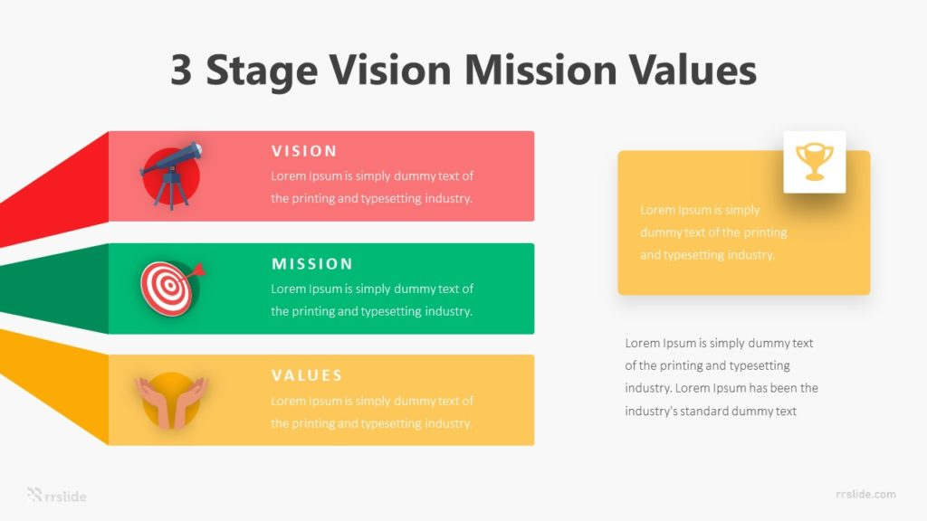 3 Stage Vision Mission Values Infographic Template