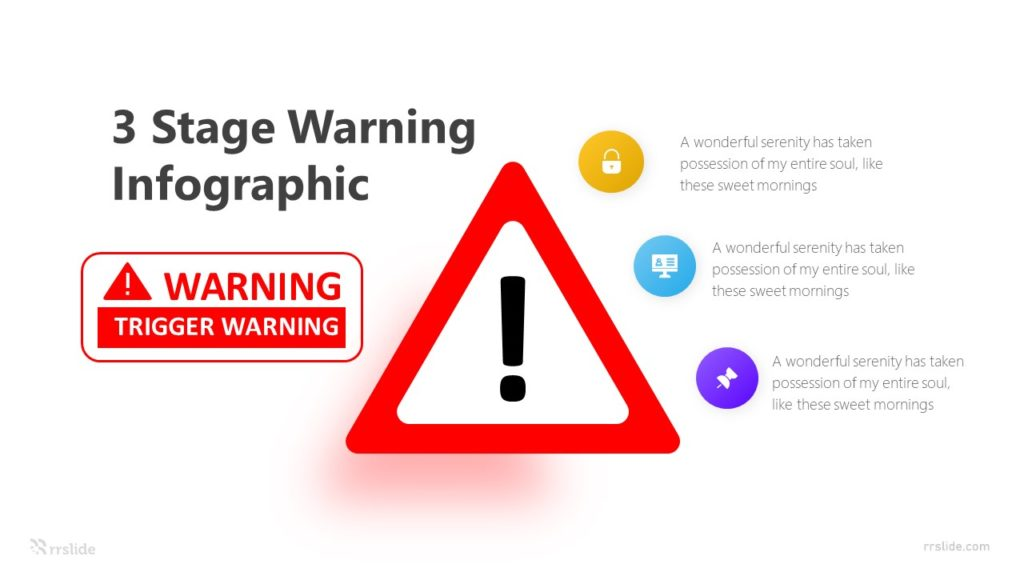 3 Stage Warning Infographic Template