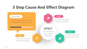 3 Step Cause And Effect Diagram Infographic Diagram