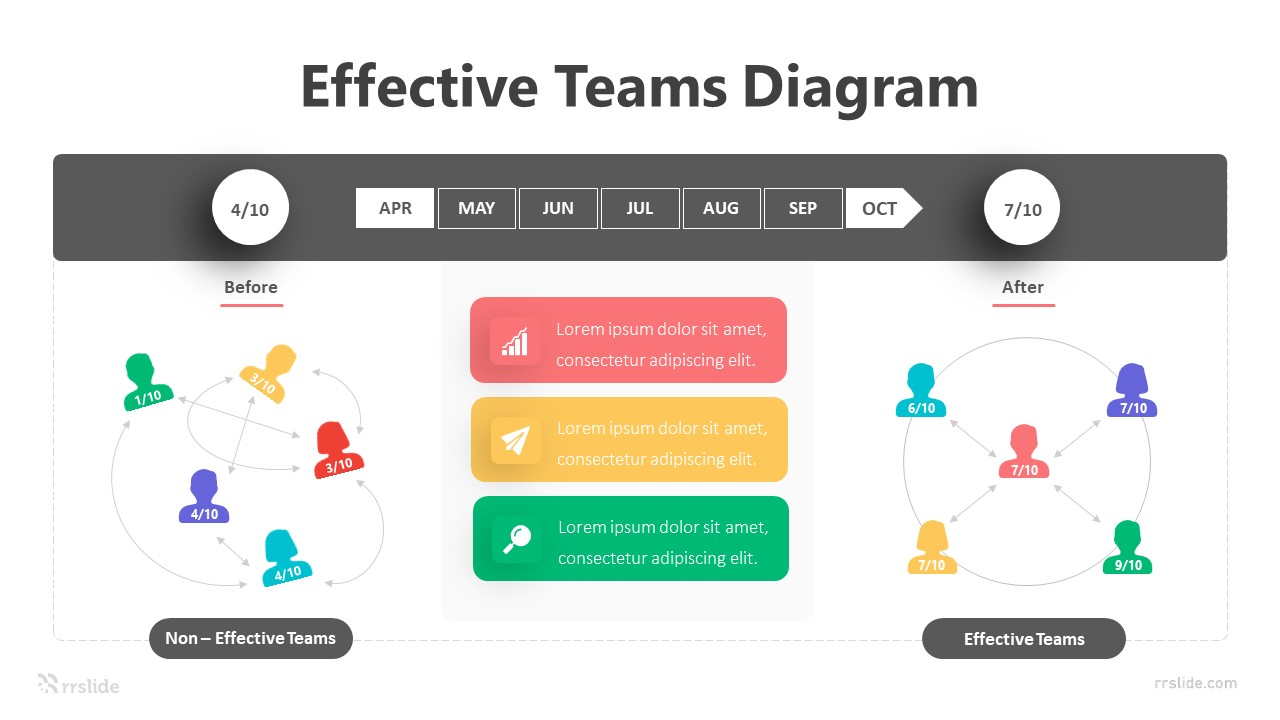4 Stage Teamwork Vector Infographic Template