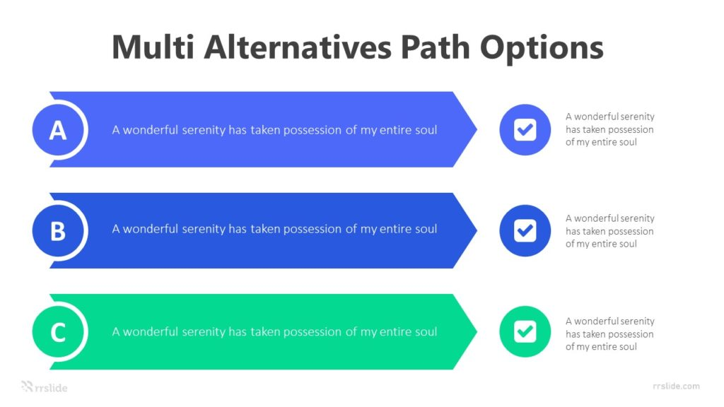 3 Step Multi Alternatives Path Options Infographic Template