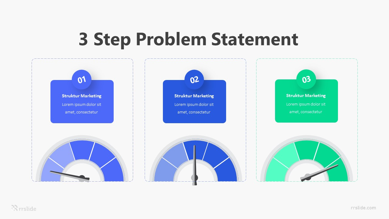 3 Step Problem Statement Infographic Template