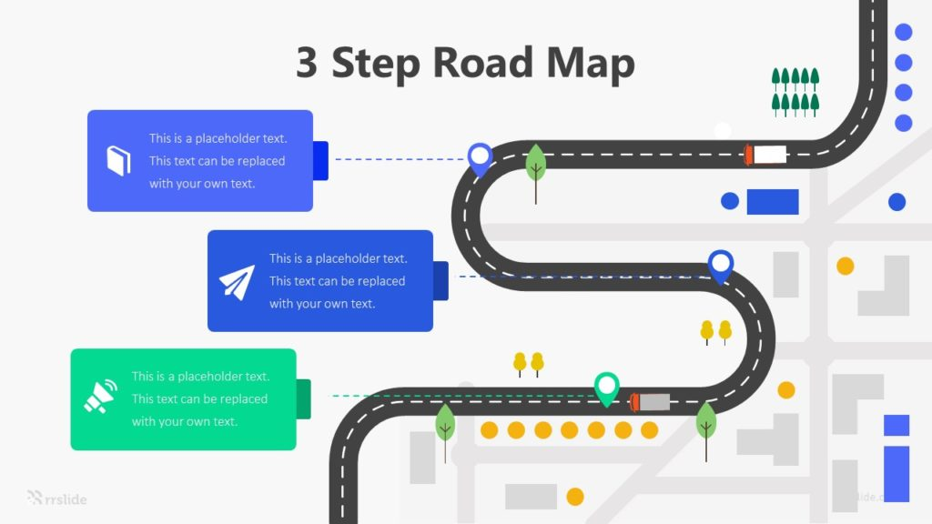 3 Step Road Map Infographic Template